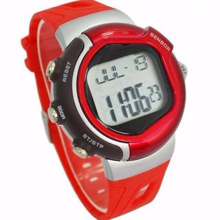 Reloj Monitor Cardíaco Digital Rojo (ver Malla)