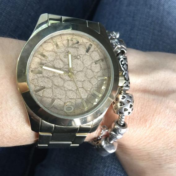 Relógio Euro Feminino Dourado Ótimo Estado