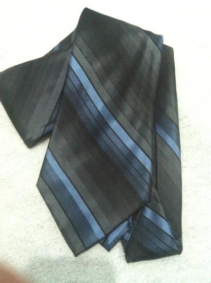 Corbata Azul De Seda George Machado