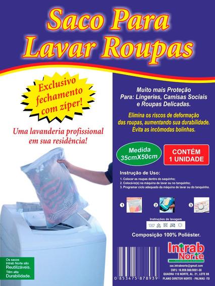 100 Sacos Para Lavar Roupa 35cm X 50cm Atacado
