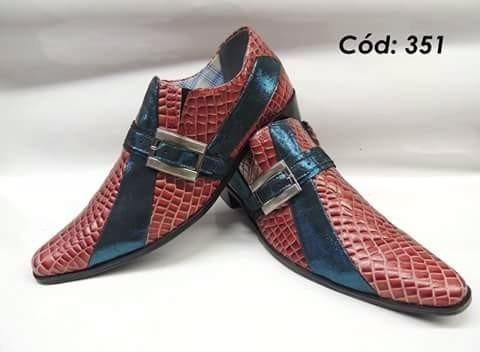 Sapato Social Artesanal Em Couro Mod: 350 Ao 363
