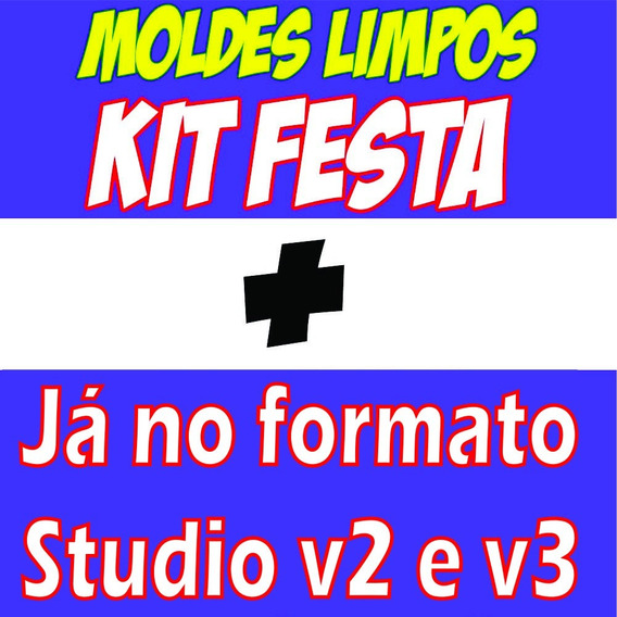 Moldes Limpos Kit Festa Digital Studio V3 E Corel