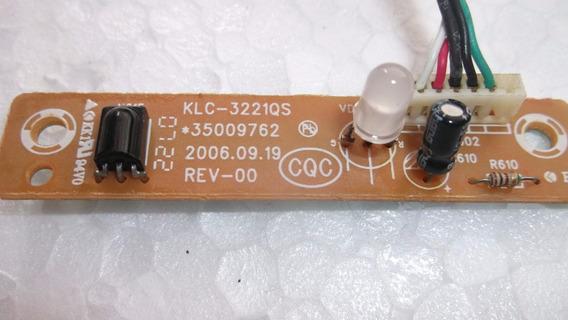 Placa +cabo Sensor Controle Remoto Tv Durabrand Kl32as21u