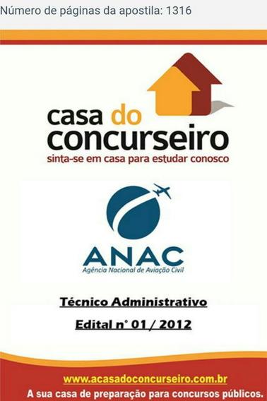 Apostila Preparatório Para Concurso Do Anac Pré Edital