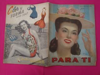 Antigua Revista Para Ti N° 1281 1946 Publicidad Mistingett