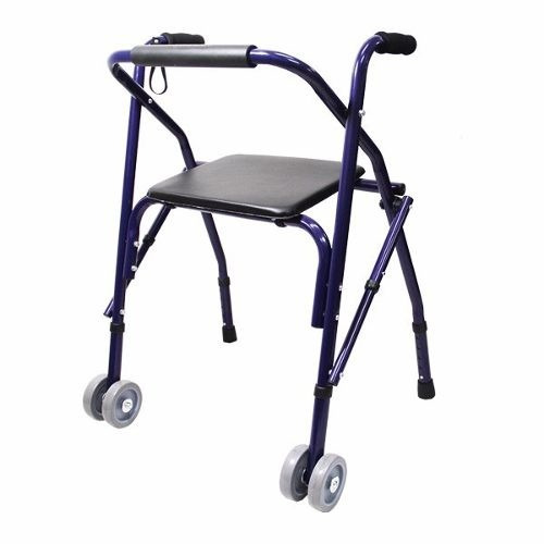 Andadera Adulto Rollator Sencilla, Color Azul, Plegable