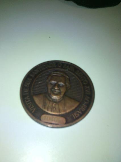 Medalha Do Papa Bento Xvl (visita Ao Brasil 2007)