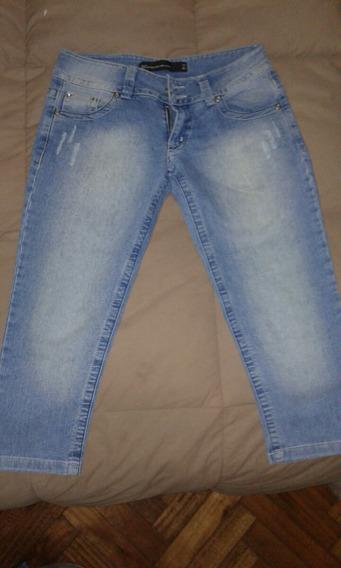 Bermuda Jean Pantalón Tabatha Talle 24 Usado Impecable