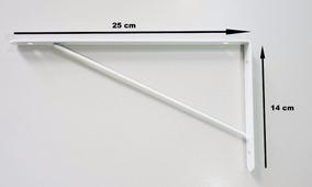 Suporte Para Prateleira ( Mão Francesa ) Branco - 2 Unidades