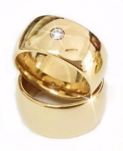 Alianças Ouro 18k 20g 8mm Brilhante Casamento Grossa Noivado Tradicional Boleada Grossa Diamante