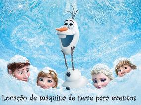 Maquina De Neve Locação Festa Frozen Natal Brasilia Df