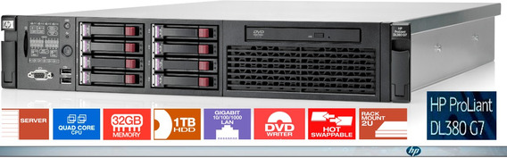 Servidor Hp Proliant Dl380 G6 2x Xeon 32 Gb 8 Hd 146 Gb Sas