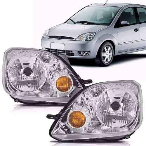 Par Farol Ford Fiesta 2003 2004 2005 2006 2007 Cromado