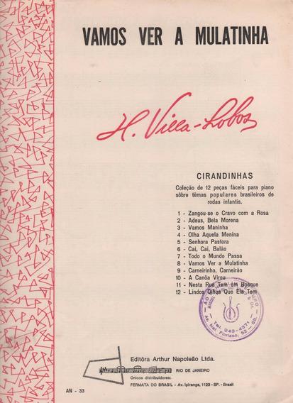 Villa-lobos - Vamos Ver A Mulatinha - Partitura