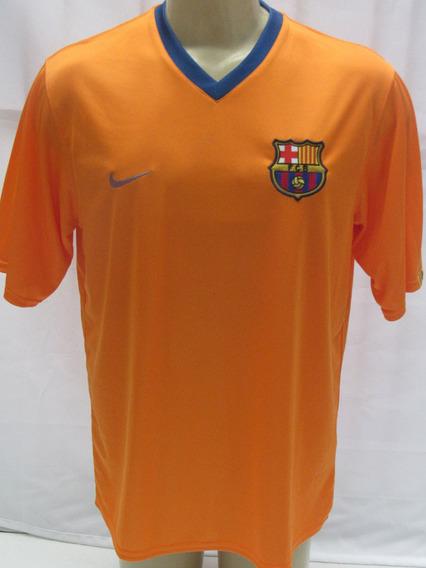 Camisa Futebol Barcelona Espanha #10 Ronaldinho Laranja Enco