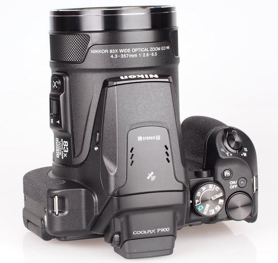 Nikon P900 Zoom 83x Vr, 16.mp Gps+wifi+32gb +bolsa, Tripé