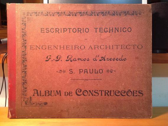 São Paulo Livro Raro Engenheiro Arquiteto Ramos De Azevedo