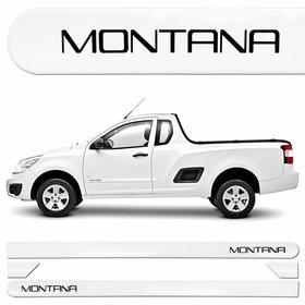 Friso Lateral Original Chevrolet Montana Branco Summit