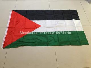 Flag Bandeira Palestina 1,50 X 0,90cm Poliéster X4