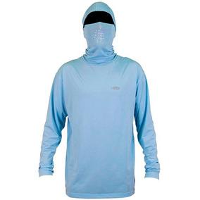 M63001-blu Playera Capucha Ninja Prot Solar Azul 2xl Aftco