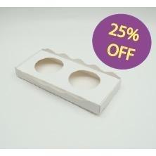 25% Off!! Bandeja Take Away Porta Vaso X2 (x 50u.) Cupcake Muffin - Bauletto