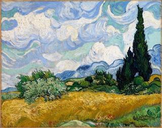 Lienzo Canvas Campo De Trigo Cypress Van Gogh 40 X 50 Cm