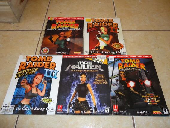 5 Guias De Estrategia Tomb Raider Playstation +++