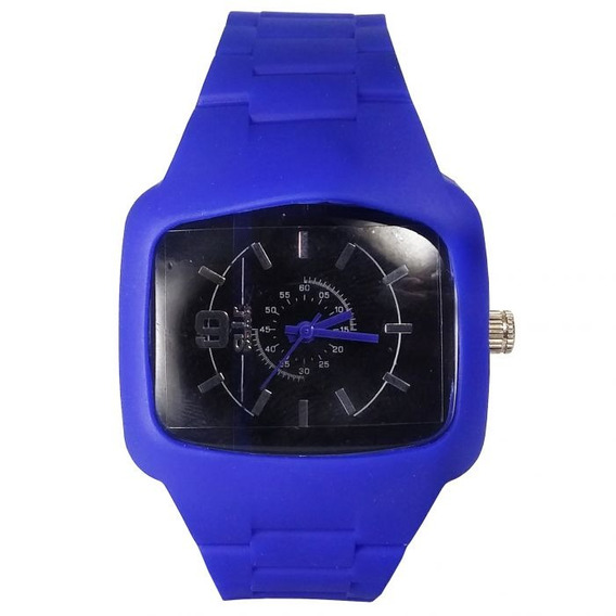 Relógio Pulso Air Watch Pulseira De Silicone Azul M9
