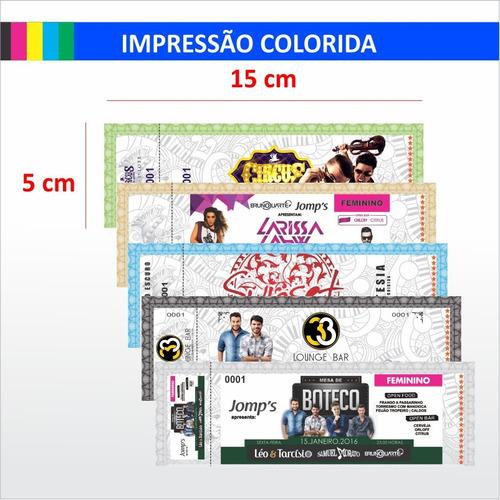 Ingresso Standard 100 Un Color 15x5cm