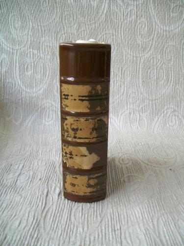 Imagen 1 de 4 de  Antigua Botella En Forma De Libro Hecha En Alemania