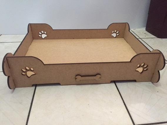 Cama Berço Caminha Para Cachorro Pet Em Mdf Madeira 60x40
