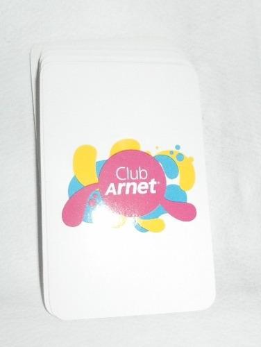 Cartas Naipes De Publicidad Club Arnet Españolas De 50 Plast