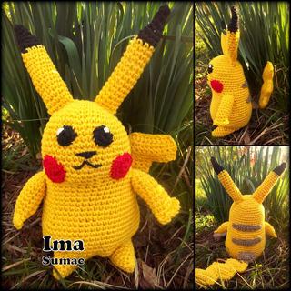 Pikachu, Charmander Pokemon Tejido. Amigurumis Artesanales.