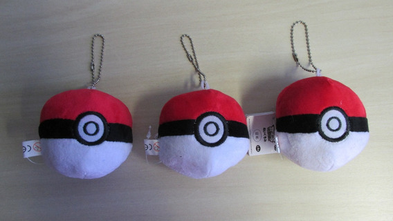 3 Chaveiros Pokebola Pokemon