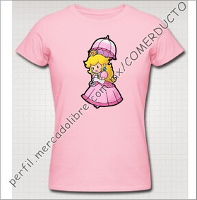 Playera Princess Peach Playera Princesa Mario Niños