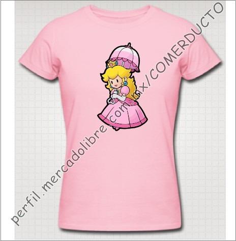 Playera Princess Peach Playera Princesa Mario Niños