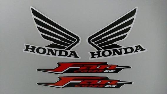 Kit Adesivos Honda Fan 125 2011 Es Vermelha