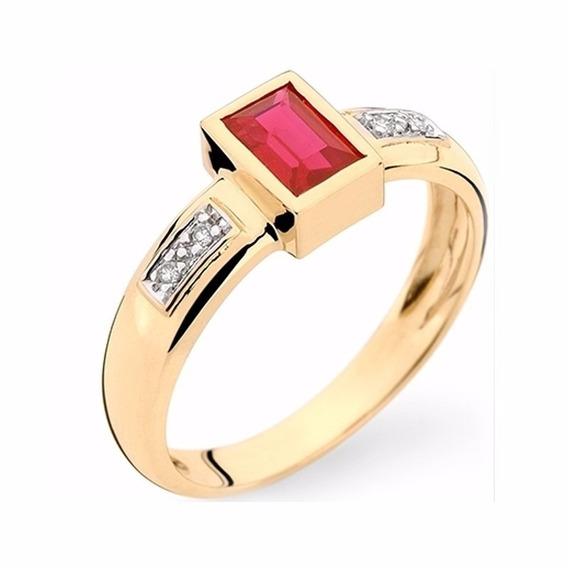 Anel De Formatura Ouro 18k Pedra/diamantes Natural