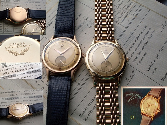 Relógio Omega Centenary Ouro 18k Único Completo Mint Antigo