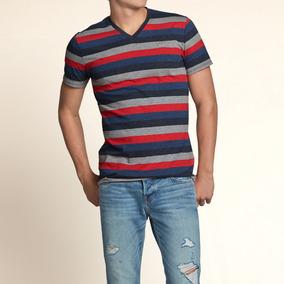 Camiseta Listrada Hollister Masculina