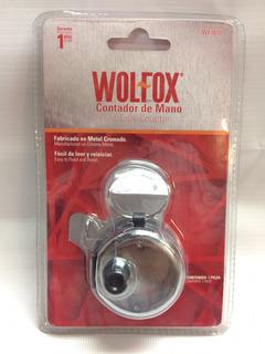 Contador De Mano Wolfox Metal Cromado
