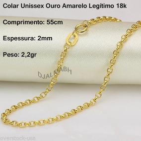 Colar Corrente Cordão + Pingente Cruz Ouro Amarelo 18k