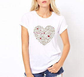Remera Corazon Love Amor - Estampados Con Onda
