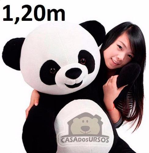 Urso Panda Pelúcia Grande Gigante Presente Dia Das Mães Pais