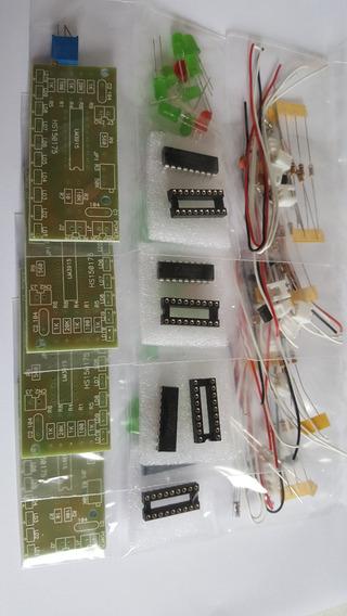 4 Kit Para Montar Vu Meter Com 10 Leds, Com O Ci Lm3915