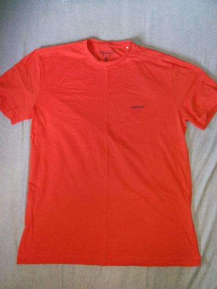 Camiseta Vermelha Lisa De Malha Dopping