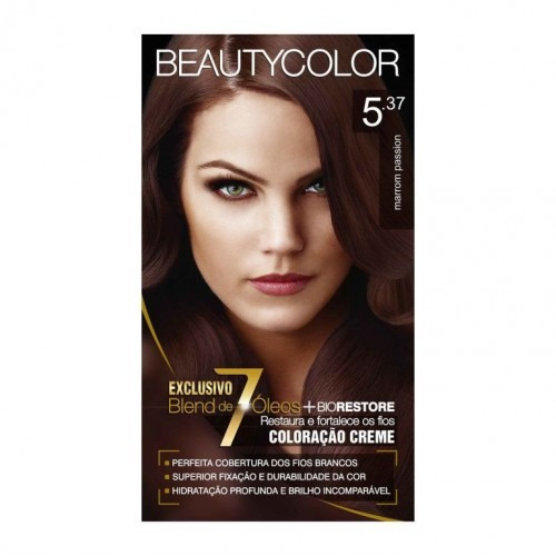 570ac350feee Tintura Beauty Color 5.37 Marrom Passion