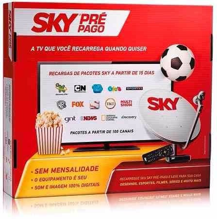 Sky Pré Pago Flex, Kit Completo Com Antena 60 Cm