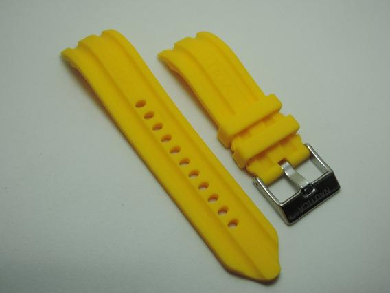 Pulseira Nautica De Silicone 24mm Amarela