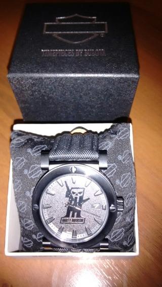 Relógio Bulova Harley Davidson Skull Novo Original Na Caixa